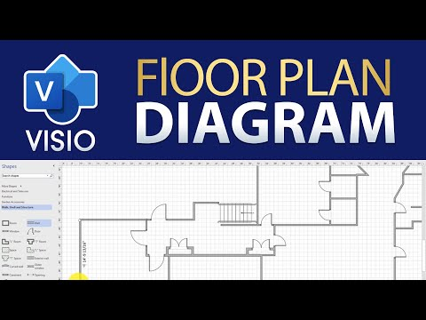 How To Draw a Simple Floor Plan in Visio - YouTube