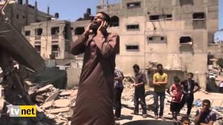İsrail in bombaladığı caminin enkazında ezan