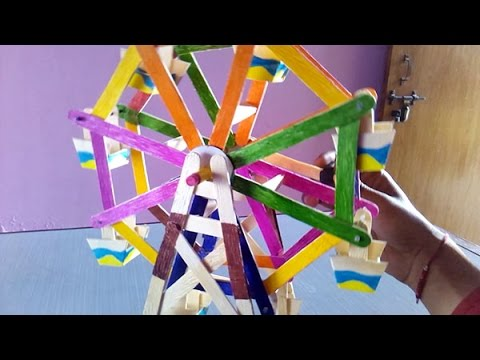 How To Make A Ferris Wheel At Home Youtube