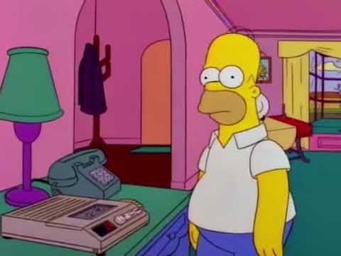 Homer Listening To Tape Was Change On Answering Machine Meme Youtube