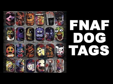 "Five Nights At Freddy/'s Dog Tags Necklace Mystery Pack 3-Pack /""Contains 3 Random"