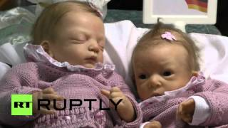 Germany: Check out the lifelike babies on display at world's largest doll fair