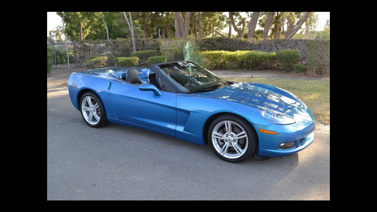 Sold 2008 Chevrolet Corvette Convertible Jetstream Blue For By Mike Anaheim
