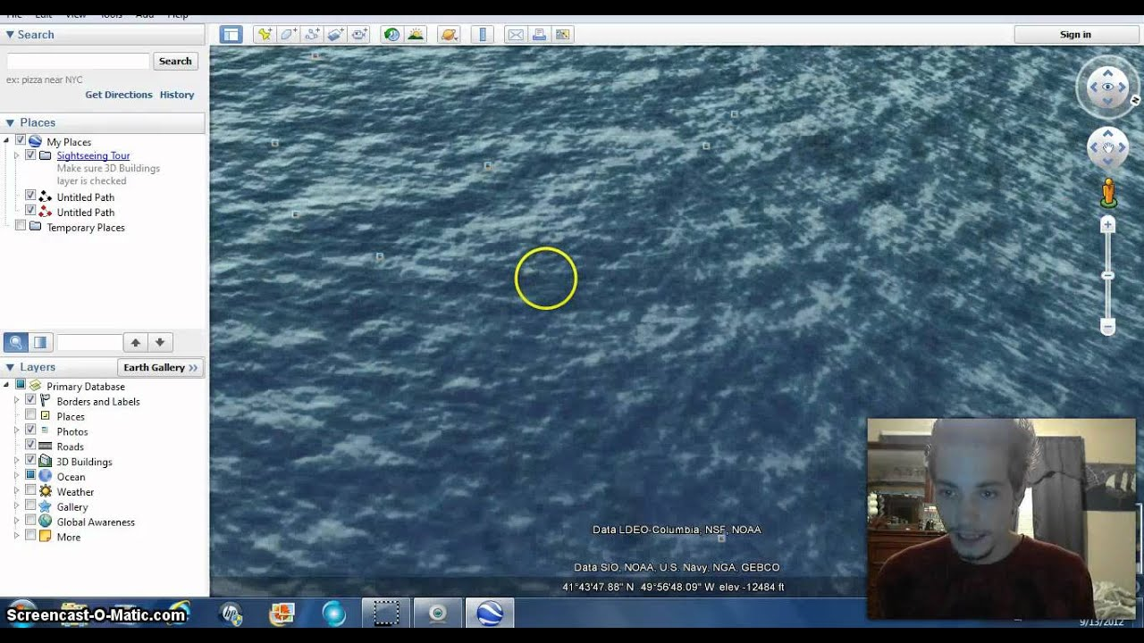 How To Find Titanic In Google Earth Youtube