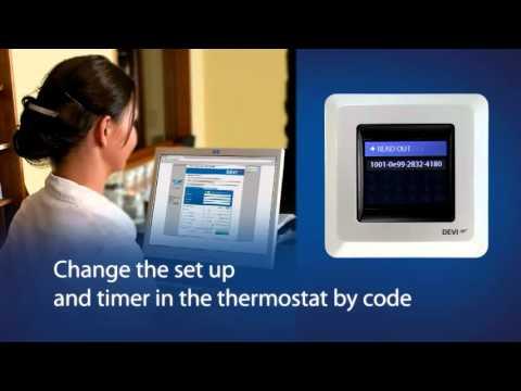 DEVIreg Touch Thermostat Simple Setup video