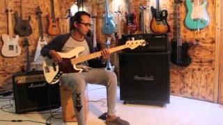 Gitar Bass Fender Jazzbass arctic white vintage 5 St Customized