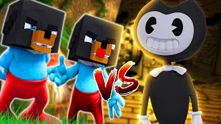 Minecraft Versus - BENDY AND THE INK MACHINE FIGHTS OFF PAPA SMURF - Modded game