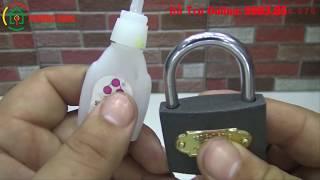 Cách mở ổ khóa bấm cửa sắt bằng keo 502 cực nhanh cực dễ luôn thumbnail