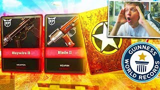 WORLD RECORD SUPPLY DROP OPENING!! (Call Of Duty WW2 Best HEROIC Supply Drop Weapons)