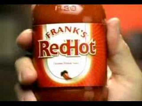 Franks Red hot sauce commercial