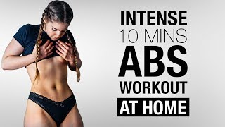 ABS - Really INTENSE Routine - FAT BURNING at HOME !
