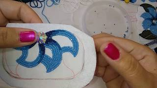 Two needle Flat stitch beading [filling in] #1