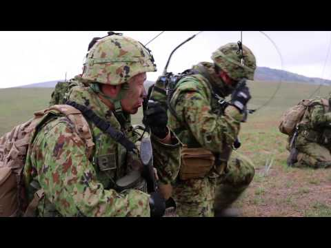 Japanese Ground Self-Defense Force Training during Exercise Iron Fist