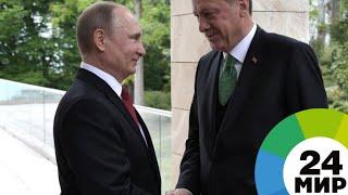 Путин и Эрдоган обсудили Сирию и энергопроекты - МИР 24
