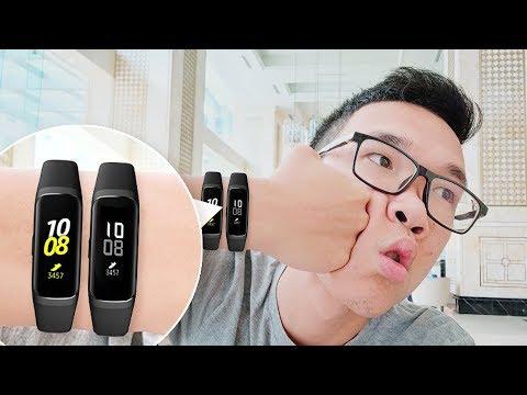 Mở Hộp Samsung Galaxy Fite Và Galaxy Fit: Có ăn được Miband?