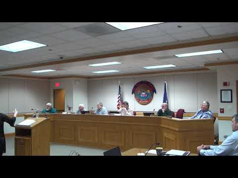 Carroll County Board of Supervisors Budget Meeting 1/22/2018