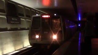 ᴴᴰ Washington Metro: Orange Line Train Arriving at Metro Center