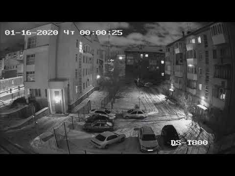 Видео пример работы 8 мп (4к) TVI камеры Hiwatch DS-T800 (Ночь)