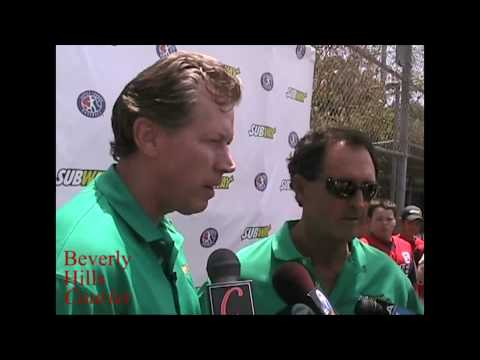 Beverly Hills hosts Baseball All-Stars Orel Hershiser and Fred Lynn