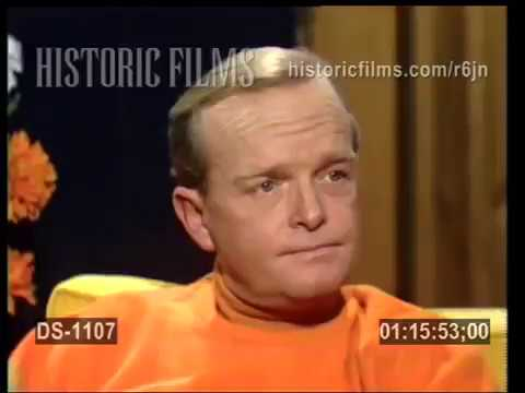 "TRUMAN CAPOTE DISCUSSES WRITING ""IN COLD BLOOD"" 1968 interview"