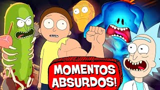 6 MOMENTOS MAIS ABSURDOS de RICK and MORTY! 🥒🤪