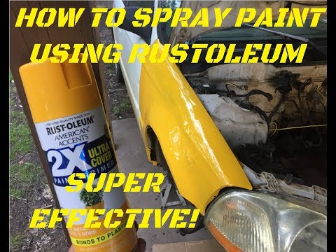 How to use rustoleum spray paint- Effective!