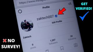 How to get verified on instagram INSTANTLY !!! | no surveys | 100% real | 2018