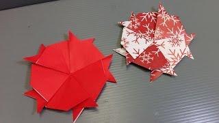 Easy Origami Cat Christmas Coaster