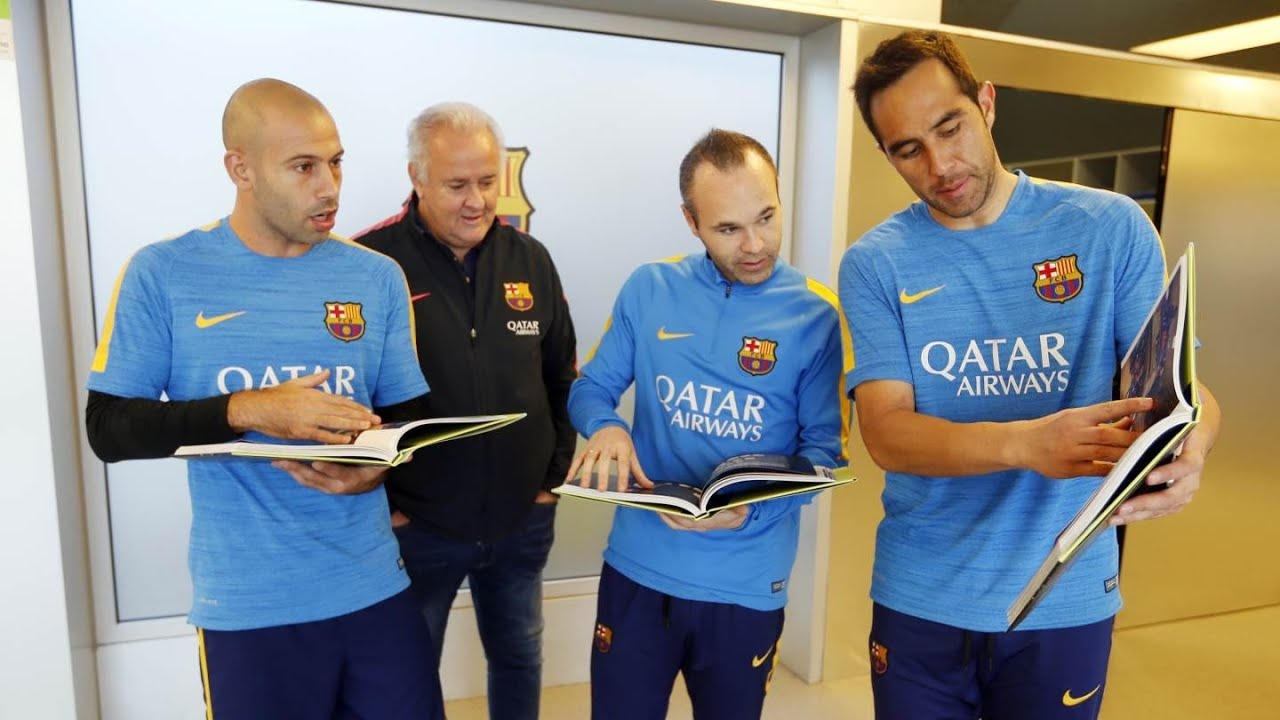 84308eb3 A Historic Treble': the new book of FC Barcelona players - YouTube
