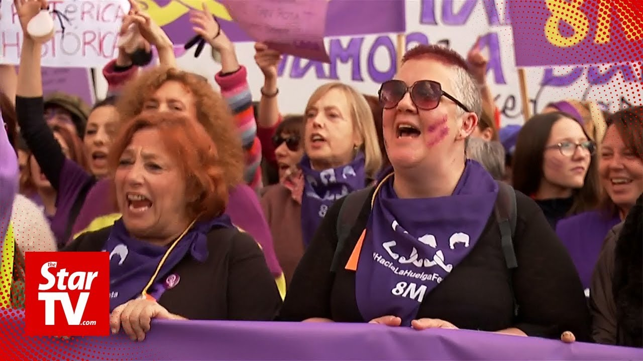 Thousands stage Women's Day march in Spain
