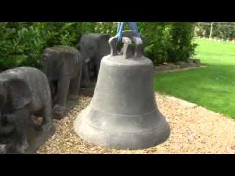 "Victorian Antique Bronze Church or School Ringing Bell - 15"" Diameter UKAA"