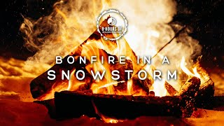 SNOW STORM SOUNDS and FIREPLACE SOUND EFFECT, Blizzard, Winter Storm, Fireplace Burning Noise