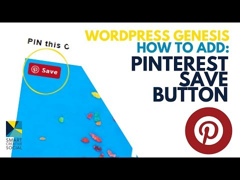 2018 – How to install Pinterest SAVE button for GENESIS on WordPress 📌 Pinterest Marketing Strategy