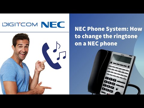 How to Change the Ringtone on a NEC Phone | Digitcom Canada