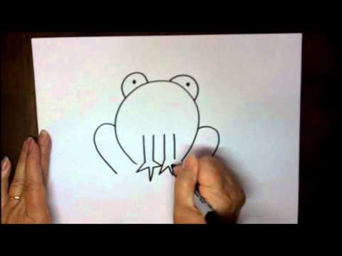 How to Draw a Frog Step by Step Easy Cartoon Project for ...