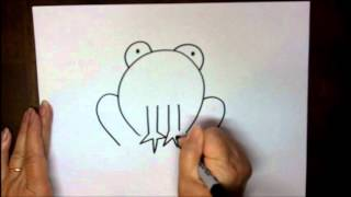 How To Draw A Frog Step By Step Easy Cartoon Project For Children