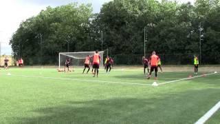 Séance entrainement football - Stade Rennais - Principes défensifs à 6 contre 3