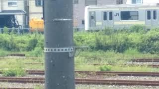 【JR東日本】旧209系訓練車(JR久里浜駅2018-9/6)