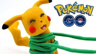 Pokémon Go Animacion Batalla Pikachu vs Chikorita Stop Motion Juguetes Play Doh