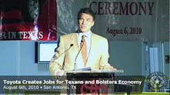 Gov. Perry: Toyota Creates Jobs for Texans and Bolsters the Local Economy