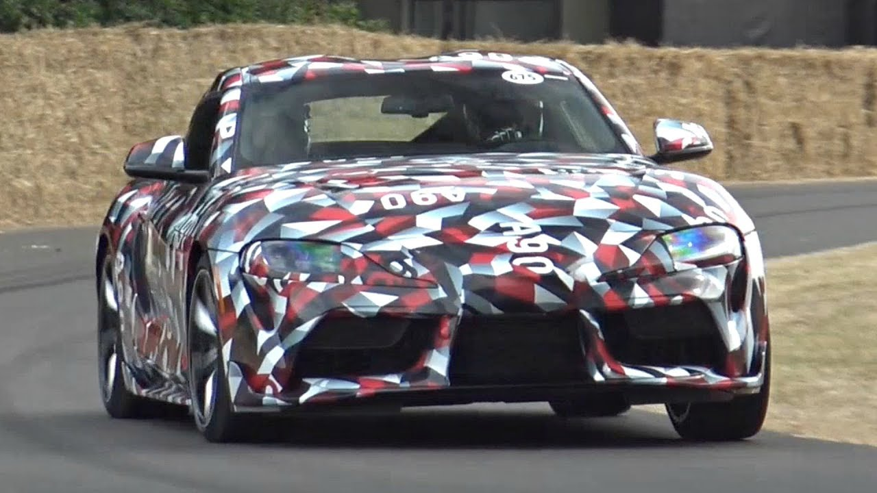New 2019 Toyota Supra 3 0 Inline Six Turbo Engine Sound In Action At Its World Debut Goodwood Fos