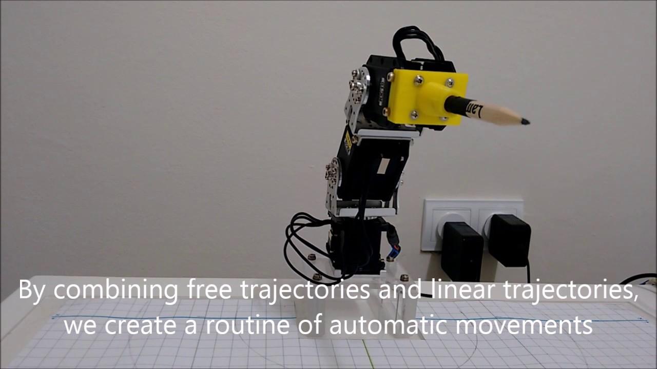 3 DOF Robotic Arm with Dynamixel servos