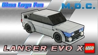 Mitsubishi Lancer Evo X #69 Lego MOC Instruction - EVO X Лего самоделка Инструкция