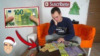 ME GASTO 100 EUROS EN LOTERIA Y ME TOCAN ____ ? | Calendario Navidad 2 [Ninchiboy]