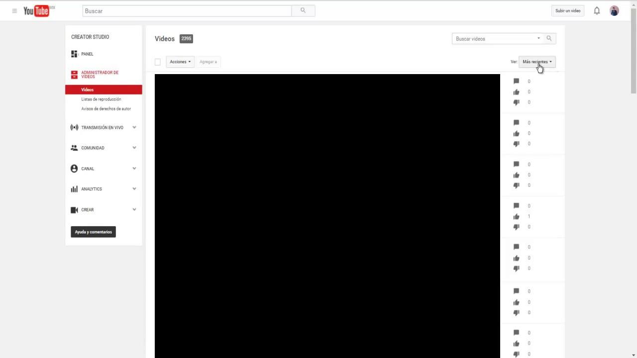 Como Ver Los Vídeos Que Tengo En Privado De Mi Canal De Youtube Youtube
