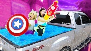 DIY สระน้ำเคลื่อนที่หลังกระบะรถ EP.2 เล่นน้ำวันสงกรานต์ 💖 ชิคกี้พาย