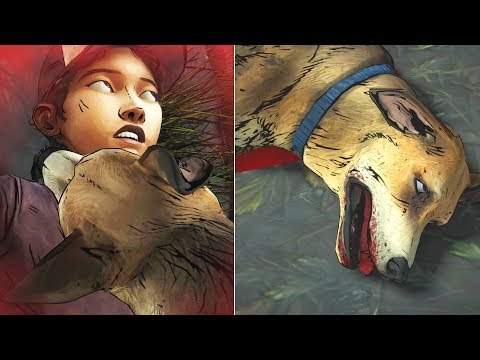 Clementine Kills Sam The Dog Vs Let It Suffer -All Choices- The Walking Dead