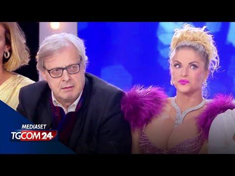 Sgarbi perde le staffe contro Barbara d'Urso, lei lo zittisce: 'Vai via cafone'