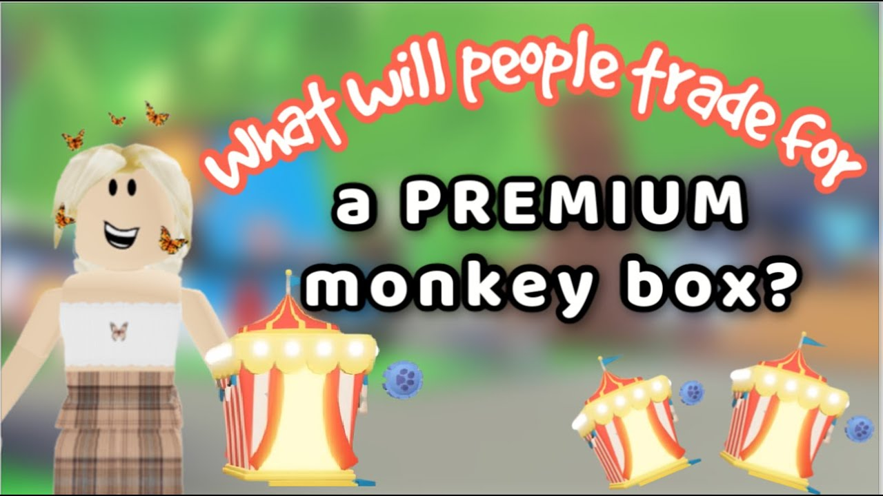 What will people trade for a PREMIUM monkey box in Adopt me!🙊