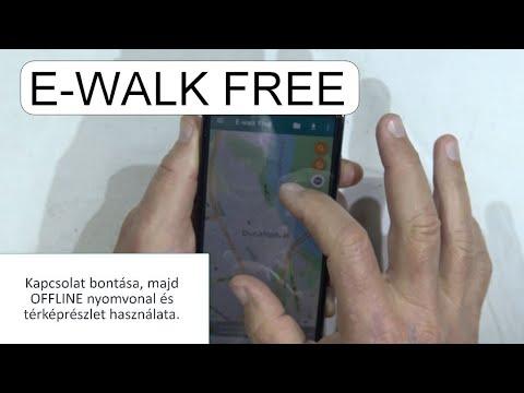 Offline Terkep Es Nyomvonal Hasznalata E Walk Free Android Youtube